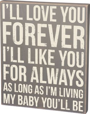 Item # 30791 | Box Sign - Love You | Primitives by Kathy