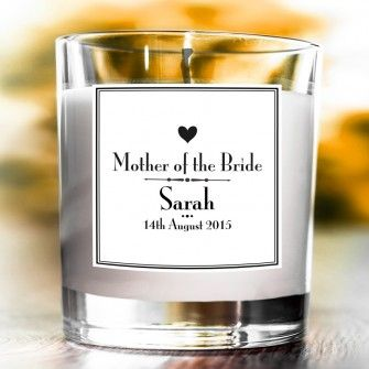 Personalised Decorative Wedding Scented Candle - Mother of the Bride