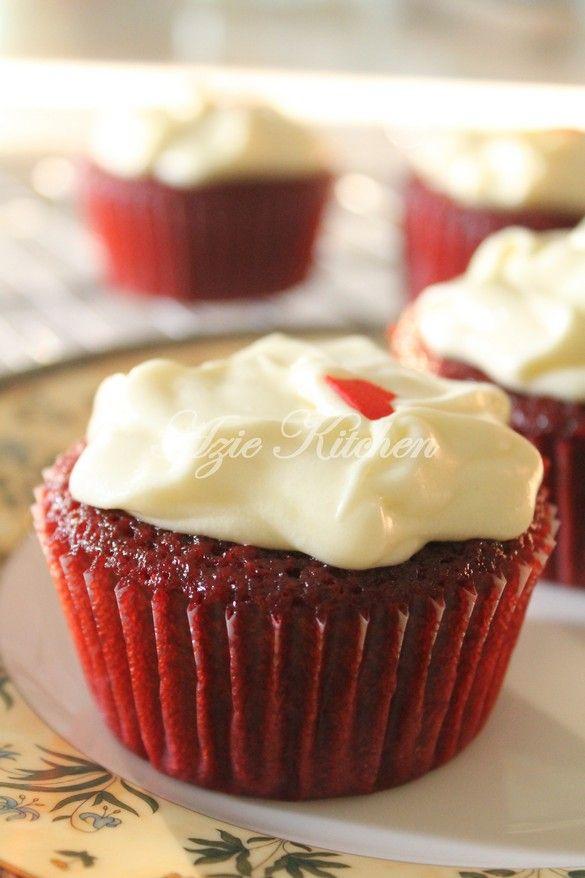 Azie Kitchen Red Velvet Cupcake Untuk Tempahan Lagi