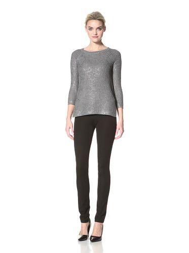 54% OFF Dex Women\'s Snake Foil Sweater (Gunmetal Snake Foil)