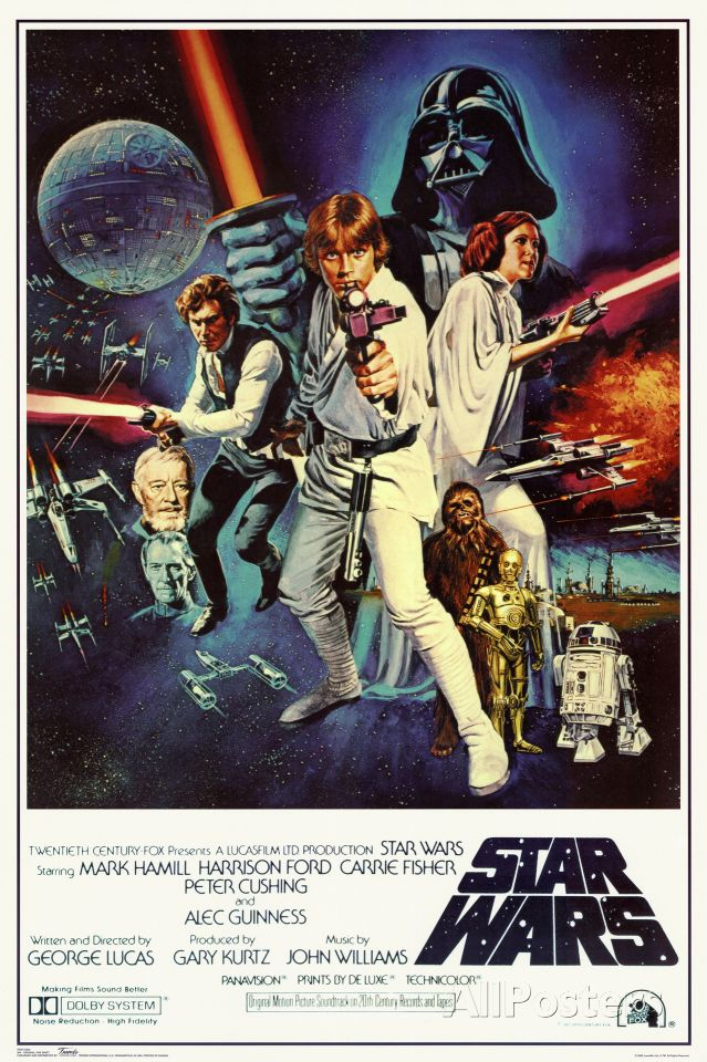 Star Wars Episode Iv New Hope Classic Movie Poster Photo Allposters Com Star Wars Movies Posters Star Wars Episodes Vintage Star Wars