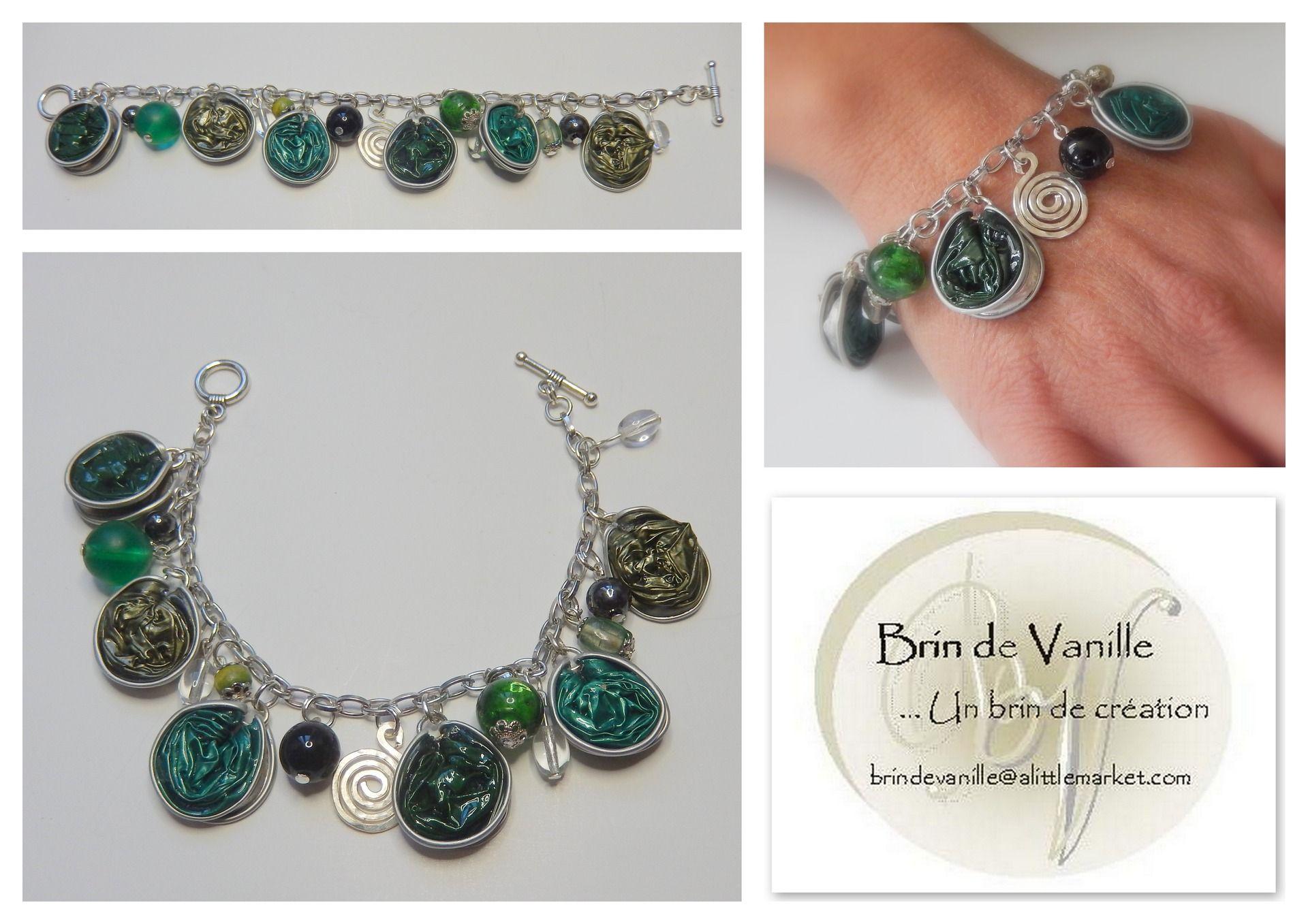 bracelet capsules nespresso pampilles vert d 39 eau vert bronze vert emeraude bracelet par. Black Bedroom Furniture Sets. Home Design Ideas