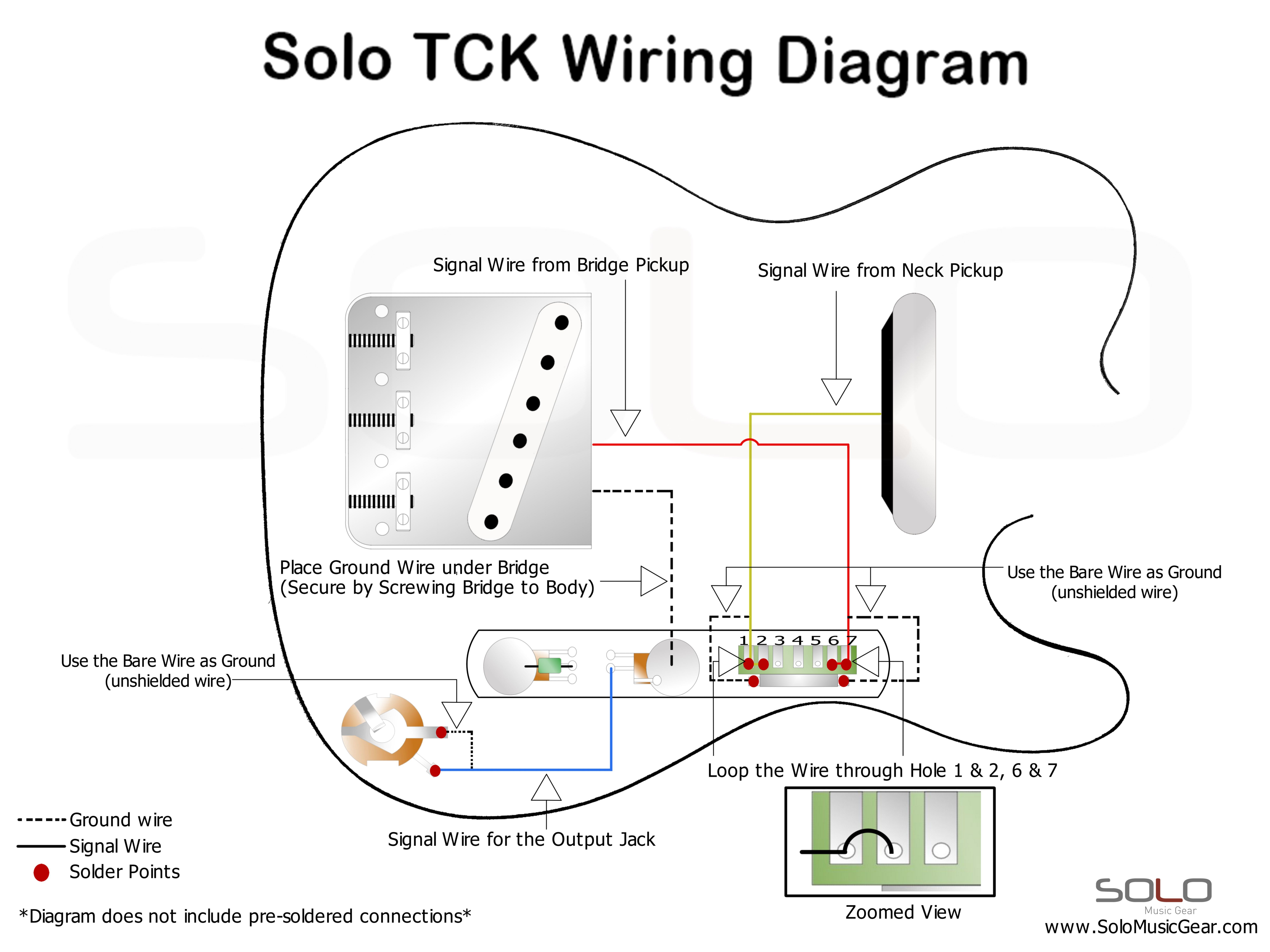 SOLO TC Style Wiring Guide, Tele Style DIY Guitar Kit, Do It ...