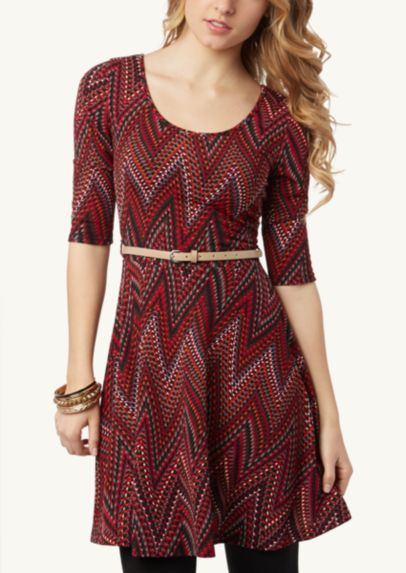 Tribal Chevron Skater Dress | Casual | rue21