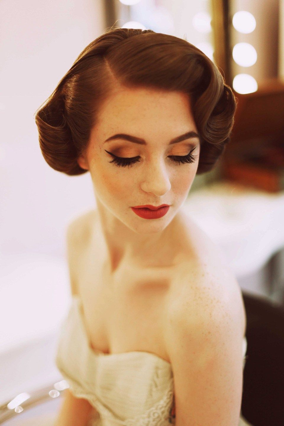 elegant 1950's fashion for the modern bride | prom 17 hair