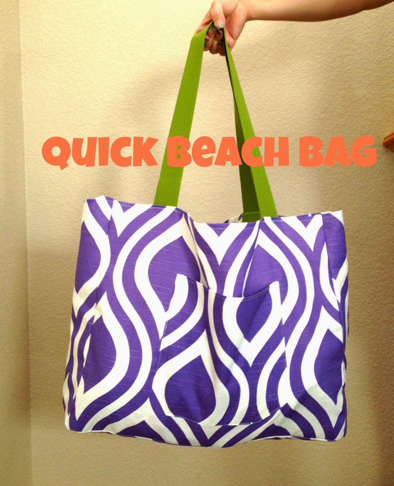 POPPYSEED FABRICS -quick and easy beach bag tutorial