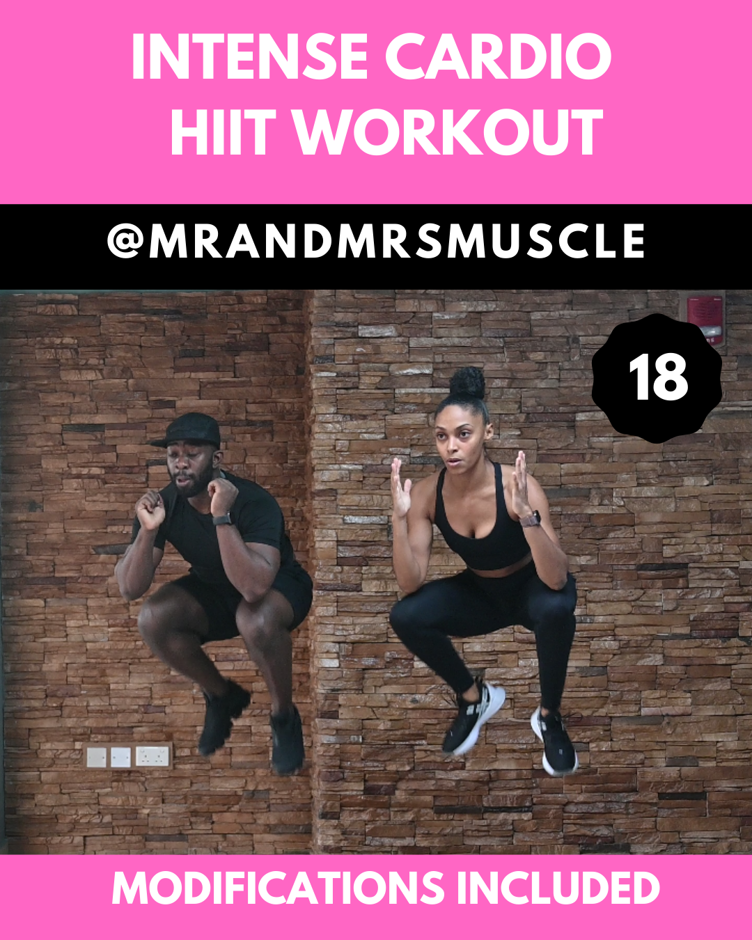 Break a huge sweat in this fun and intense cardio workout. Each exercise has low impact modification...