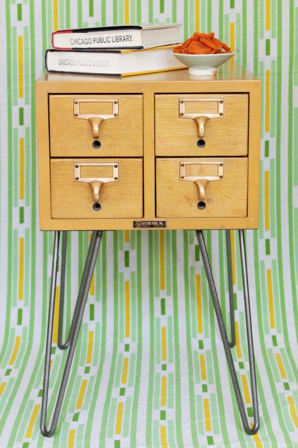 Diy Card Catalog End Table Tutorial Hands Occupied Diy Decor Home Diy Redo Furniture