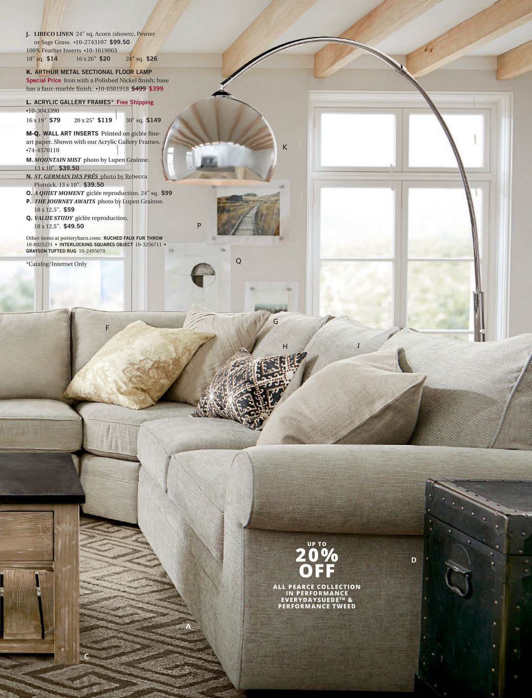 Pottery barn fall d page sectionals pinterest