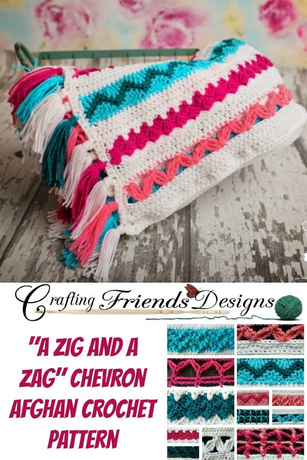 A Zig and A Zag Chevron Sampler Afghan Crochet Pattern by Crafting ...