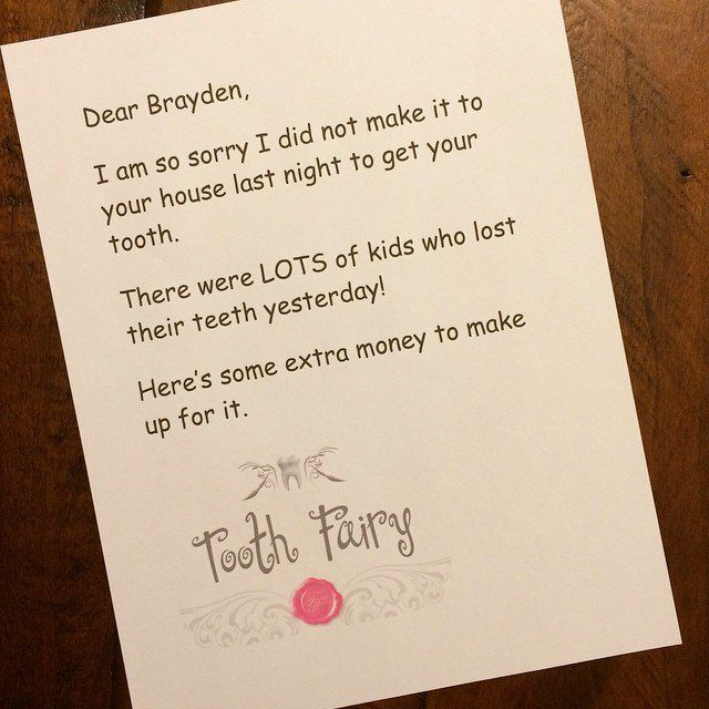 Hilarious And Genius Apology Notes From The Tooth Fairy Tooth