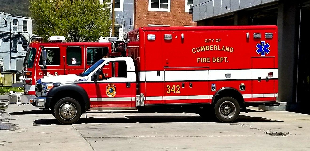Cumberland Fire Department MD medic unit 342  Smiller70 | Ambulance