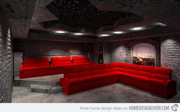 12 Truly Entertaining Home Theater Designs | Home Design Lover