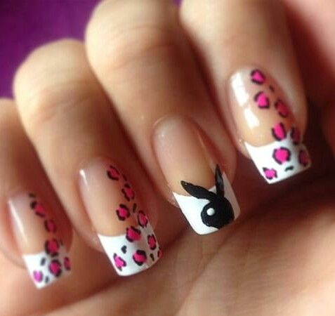 Leopard print playboy nails nails pinterest leopard print playboy nails prinsesfo Image collections