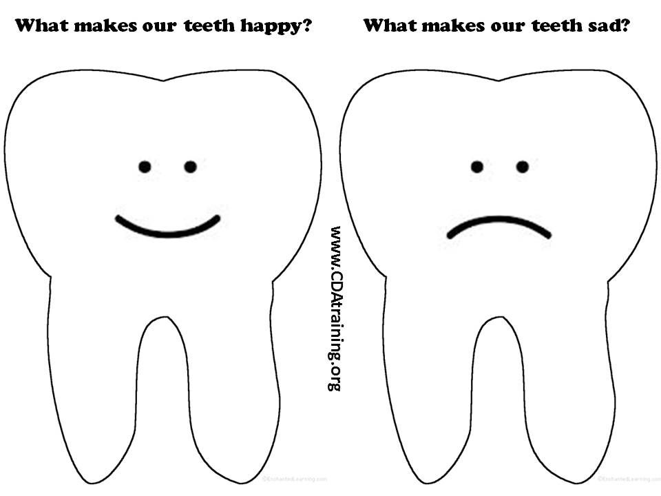 tooth printable - Google Search | Dramatic Play Prop Boxes | Pinterest