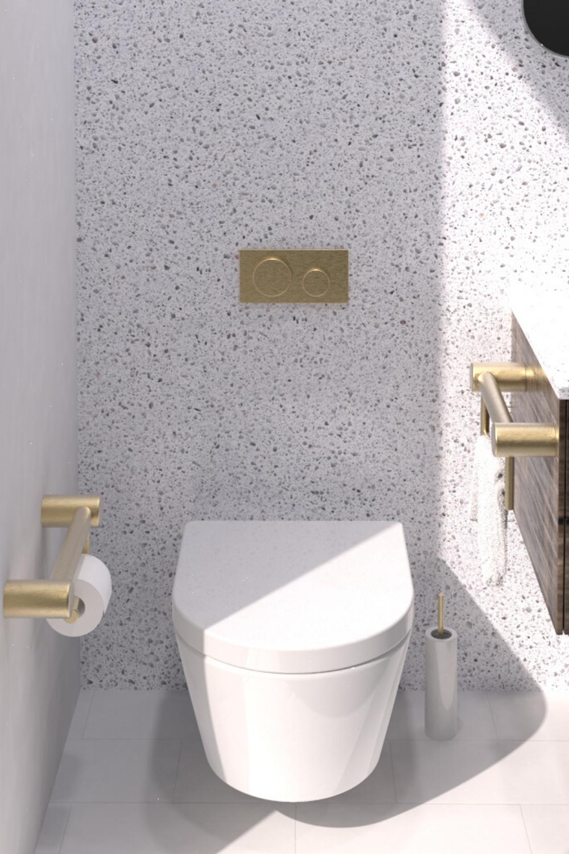 Diese Warmeren Tone Verleihen Ihrem Zuhause Ein Kantiges Und Dennoch Elegantes Gefuhl In 2020 Modern Bathroom Accessories Simple Bathroom Bathroom Design