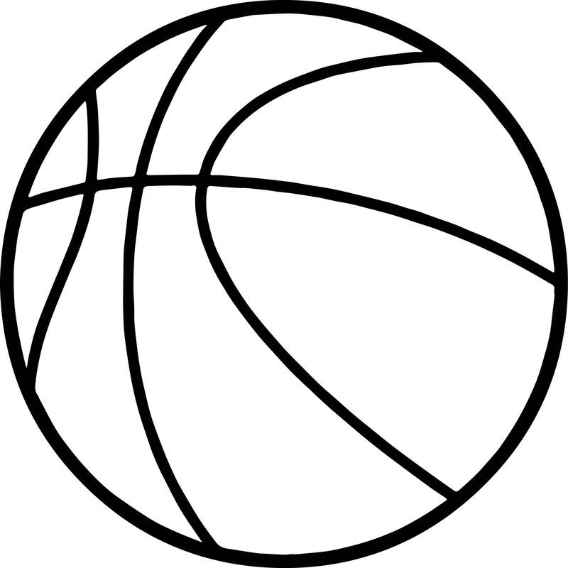 Basketball Ball Coloring Page Sports Coloring Pages Football