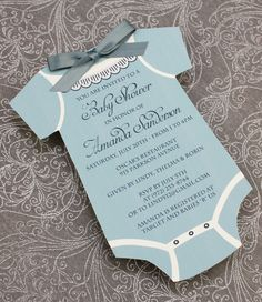 diy baby boys' onsie shower invitation template from, Baby shower invitation