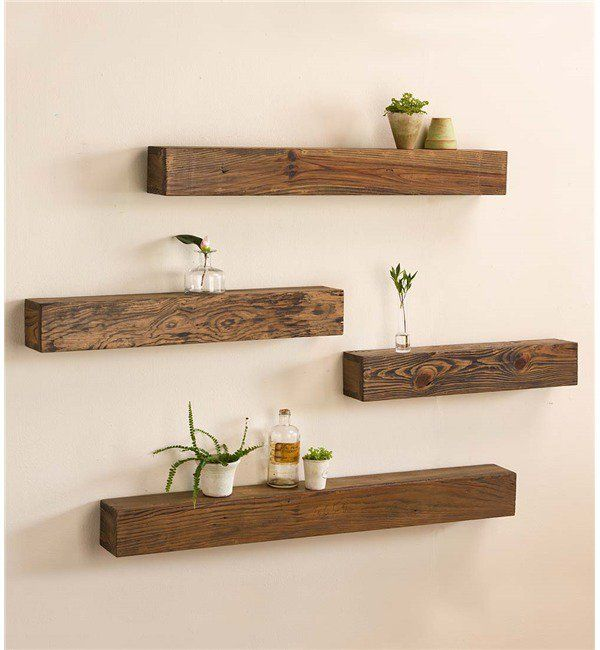 16 Captivating Handmade Wooden Shelf Designs That Will Admire You Rustic Wooden Shelves Floating Shelves Diy Wooden Wall Shelves