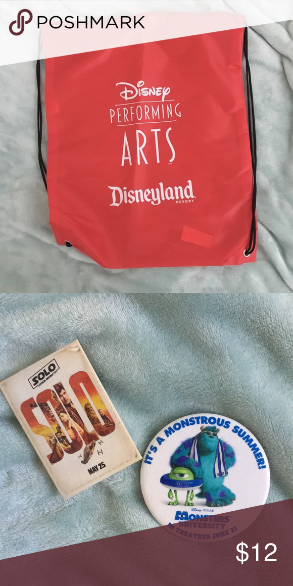 Disney Drawstring Bag Pins Brand New Never Used Performing Arts Not Sold In S Will Throw A Few Bags