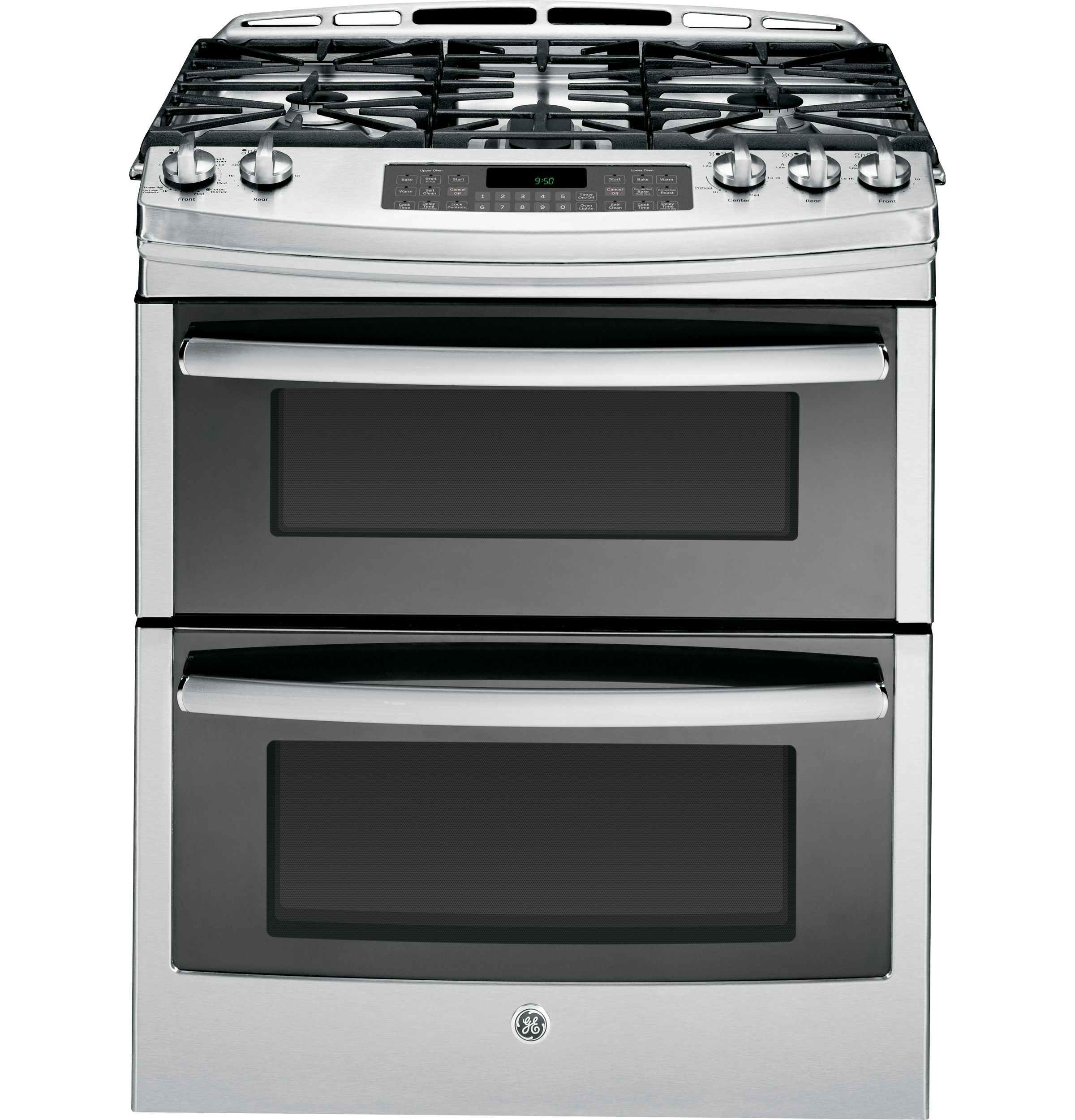 Ge S Industry First Slide In Double Oven Gas Range Allows Two
