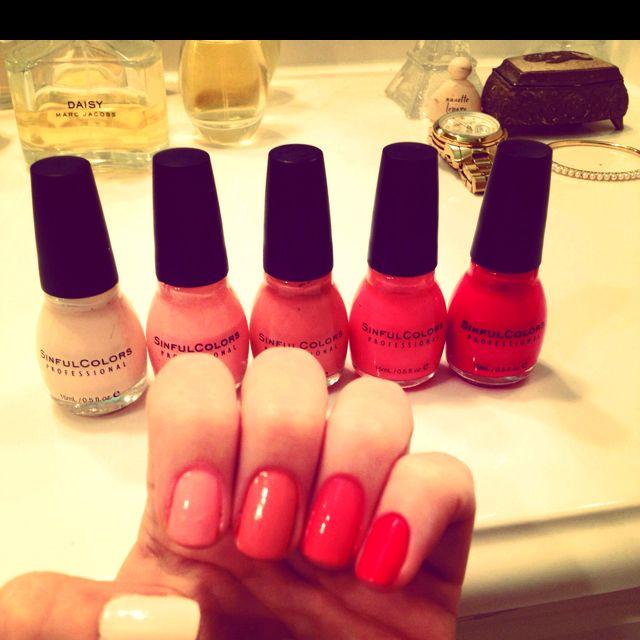Pink ombré manicure