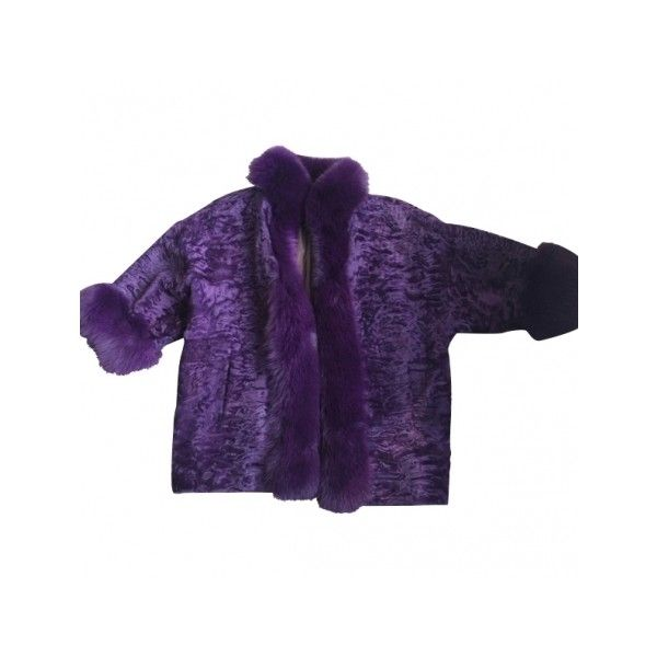 Pre-owned DIOR Purple Fur Coat ($1,495) ❤ liked on Polyvore featuring outerwear, coats, christian dior coat, christian dior, purple coat, fur coat and purple fur coat