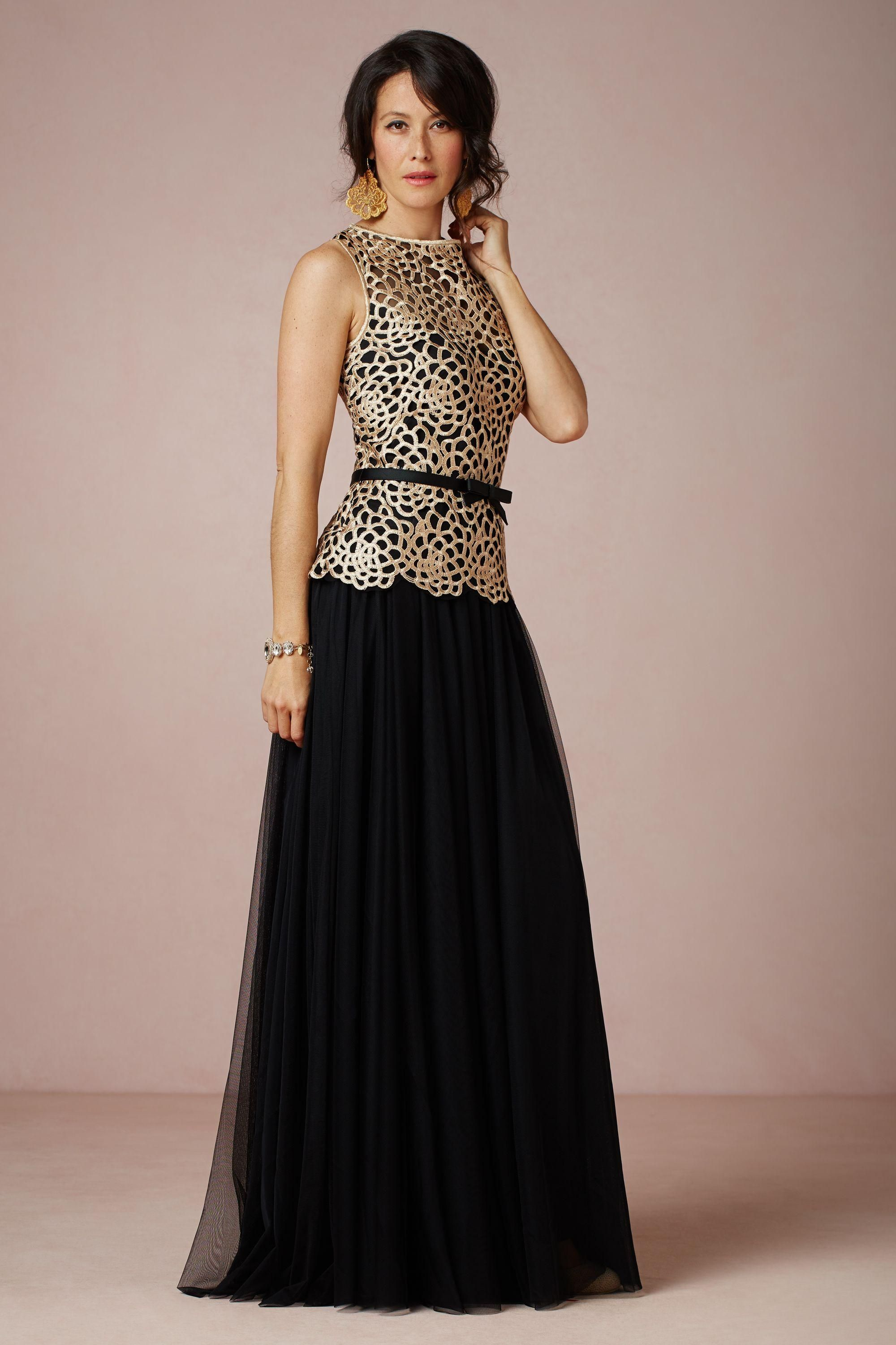 Black & Gold Gown | wedding. | Pinterest | Gold gown, Black gold and ...
