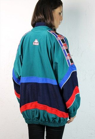 Kappa Vintage Crushed Velvet Track Jacket Clothes N