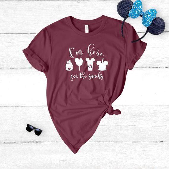 0d20f716b I'm Here For The Snacks T-Shirt, Disney Shirt, Disney Vacation, Disney  Shirts, Mickey Mouse Shirt, D