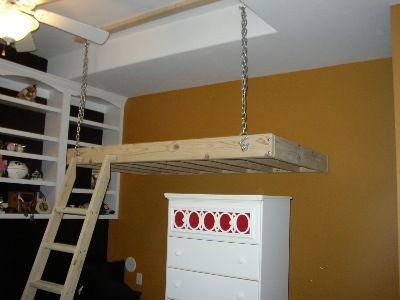 Graceful Hanging Loft Bed Bolts | 255258 | Home Design Ideas