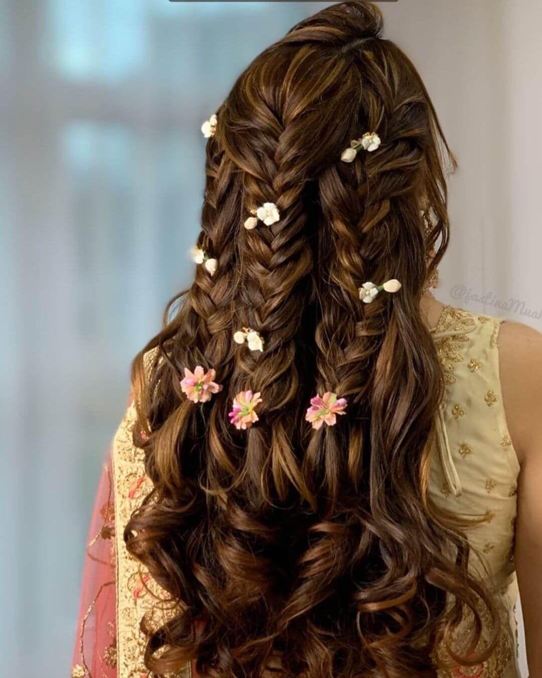 Pin by Srishti Kundra on Messy bun | Hair styles, Braided hairstyles,  Indian wedding hairstyles
