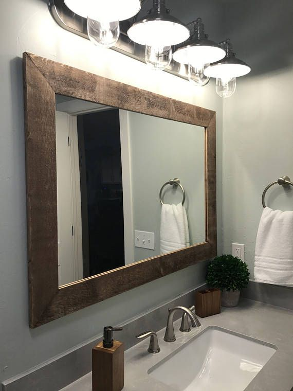 Wood Framed Mirror 20 Stain Colors, Framed Wall Mirrors For Bathrooms