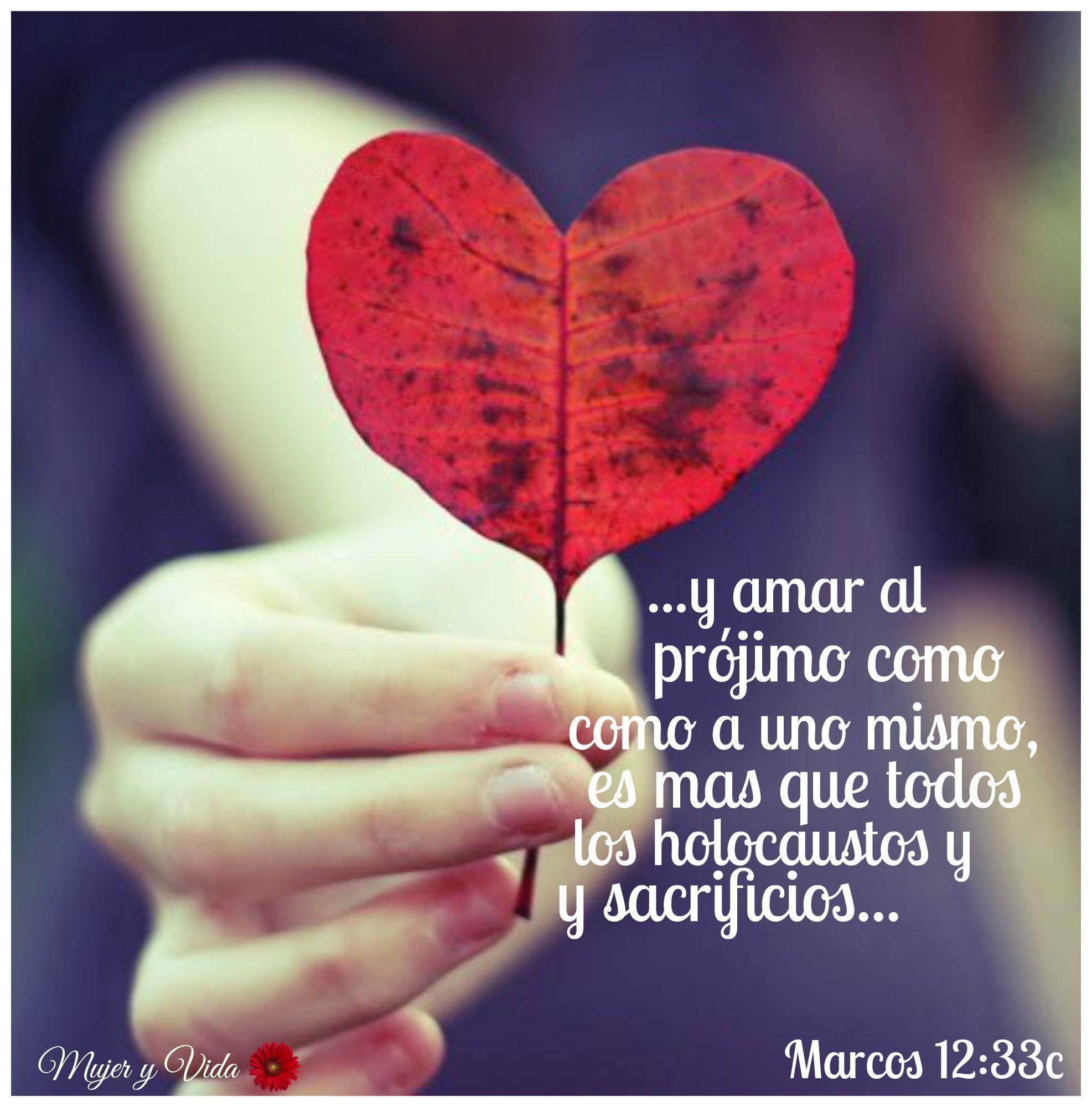 La Biblia: Marcos 12:33 | Versículos Bíblicos | Pinterest | La ...