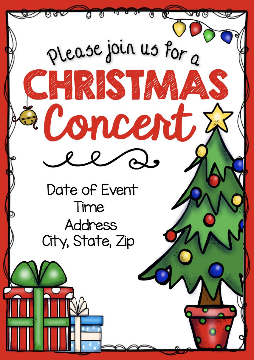 Editable diy christmas concert invitation flyer poster program editable diy christmas concert invitation flyer poster program flier and more solutioingenieria Image collections