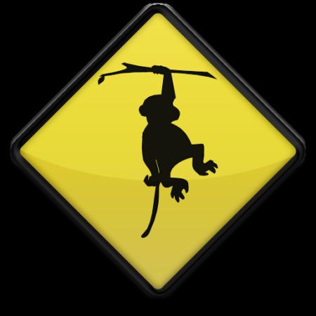 Tropical Party Clip Art | Free Monkey Clipart, Cartoon Monkey ...