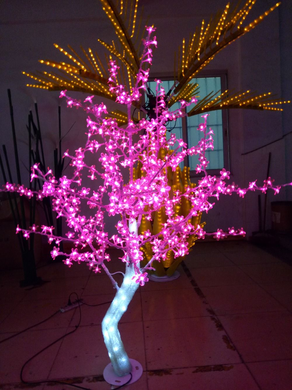 Free Ship5ft 1 5m Height Outdoor Led Crystal Cherry Blossom Tree Christmas Tree Light 558 Led Outdoor Christmas Lights Christmas Lights Images Christmas Lights