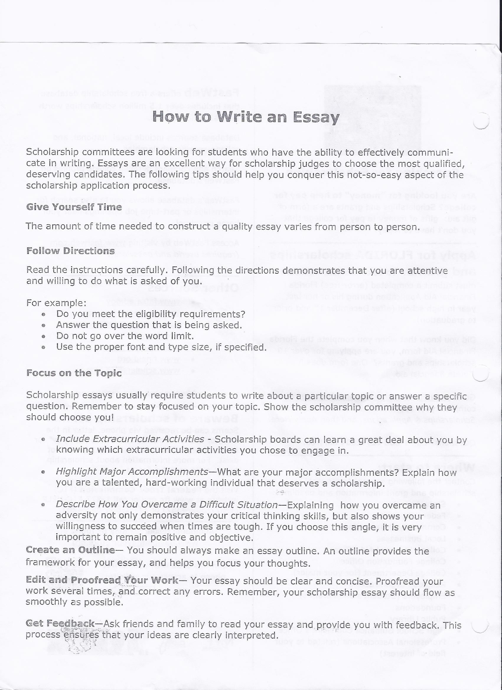 Writing College Paper Essay Proces How To Take A Good Photograph
