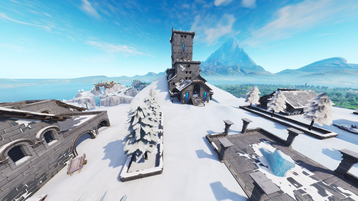 Polar Peak Has Melted To Show More Of The Ice King S Castle Fortnite Fortnitebattleroyale Game Fortnite Ice King Top Of The World