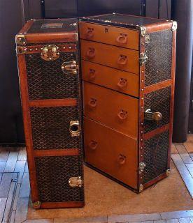 Bentleys Antique - 03. Goyard Wardrobe Trunk [open I] | Antique ...
