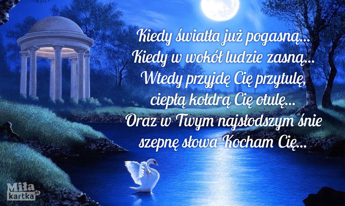 Wiersz Miłosny Na Dobranoc Dobranoc Sen Nadobranoc