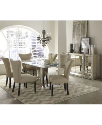 "Sophia Dining Room Furniture 7 Piece Set 96"" Table And 6 Side Unique Macys Dining Room Chairs 2018"
