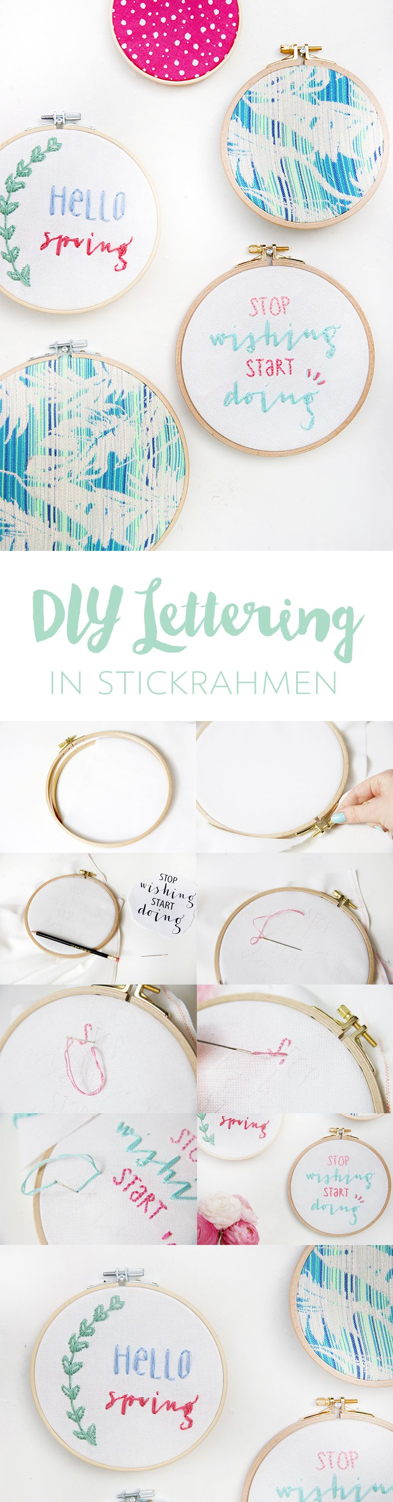 diy lettering stickrahmen im ard buffet get crafty pinterest. Black Bedroom Furniture Sets. Home Design Ideas