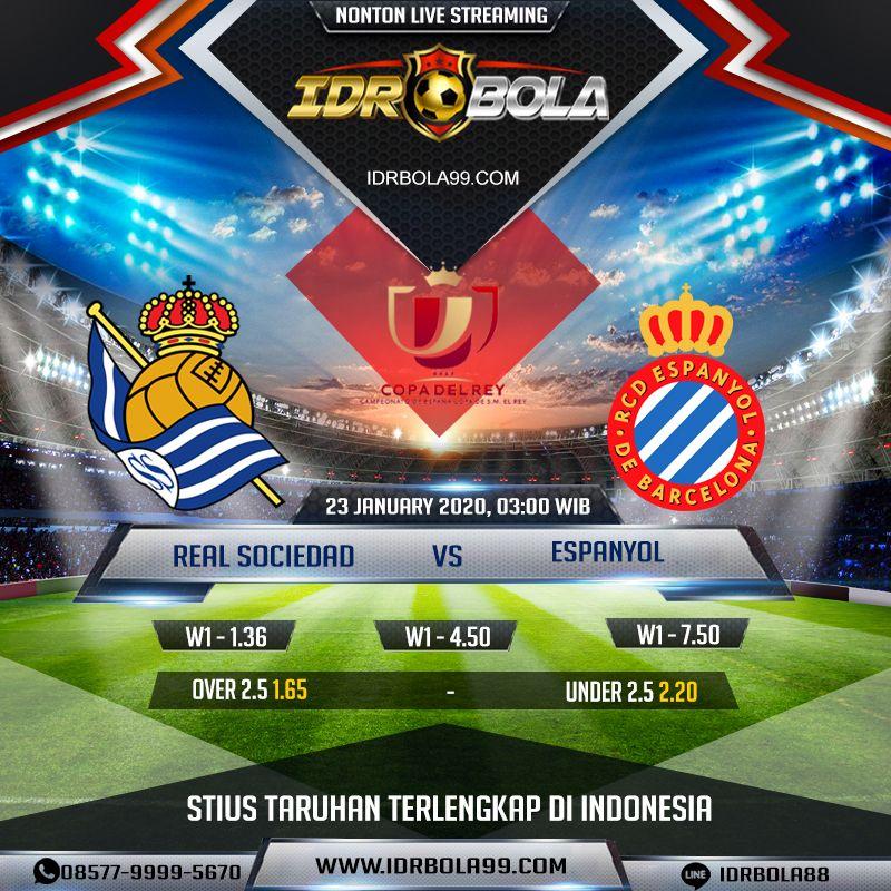 Prediksi Bola Real Sociedad Vs Espanyol 23 Januari 2020 In 2020 Real Sociedad Live Streaming Streaming