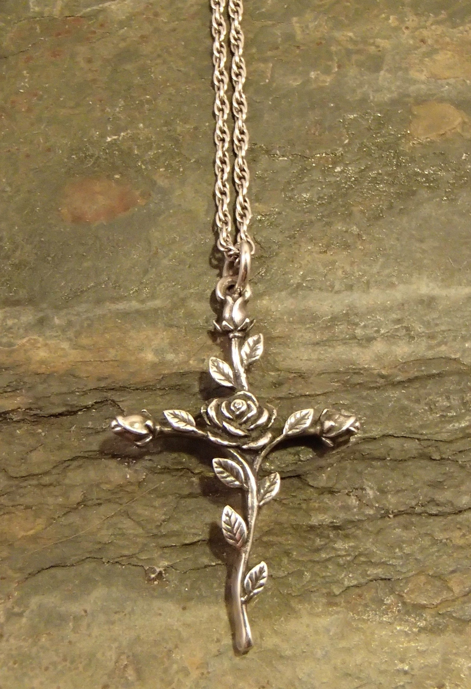 ad02effbbb877 James Avery sterling silver rose cross necklace #emmeann ...