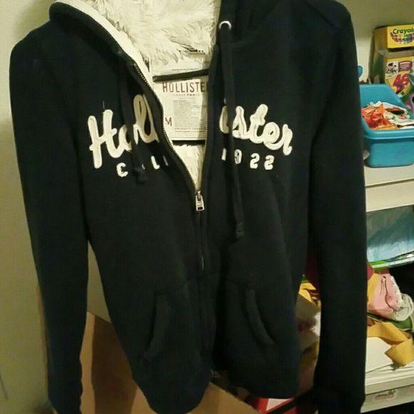 hollister faux fur hoodie