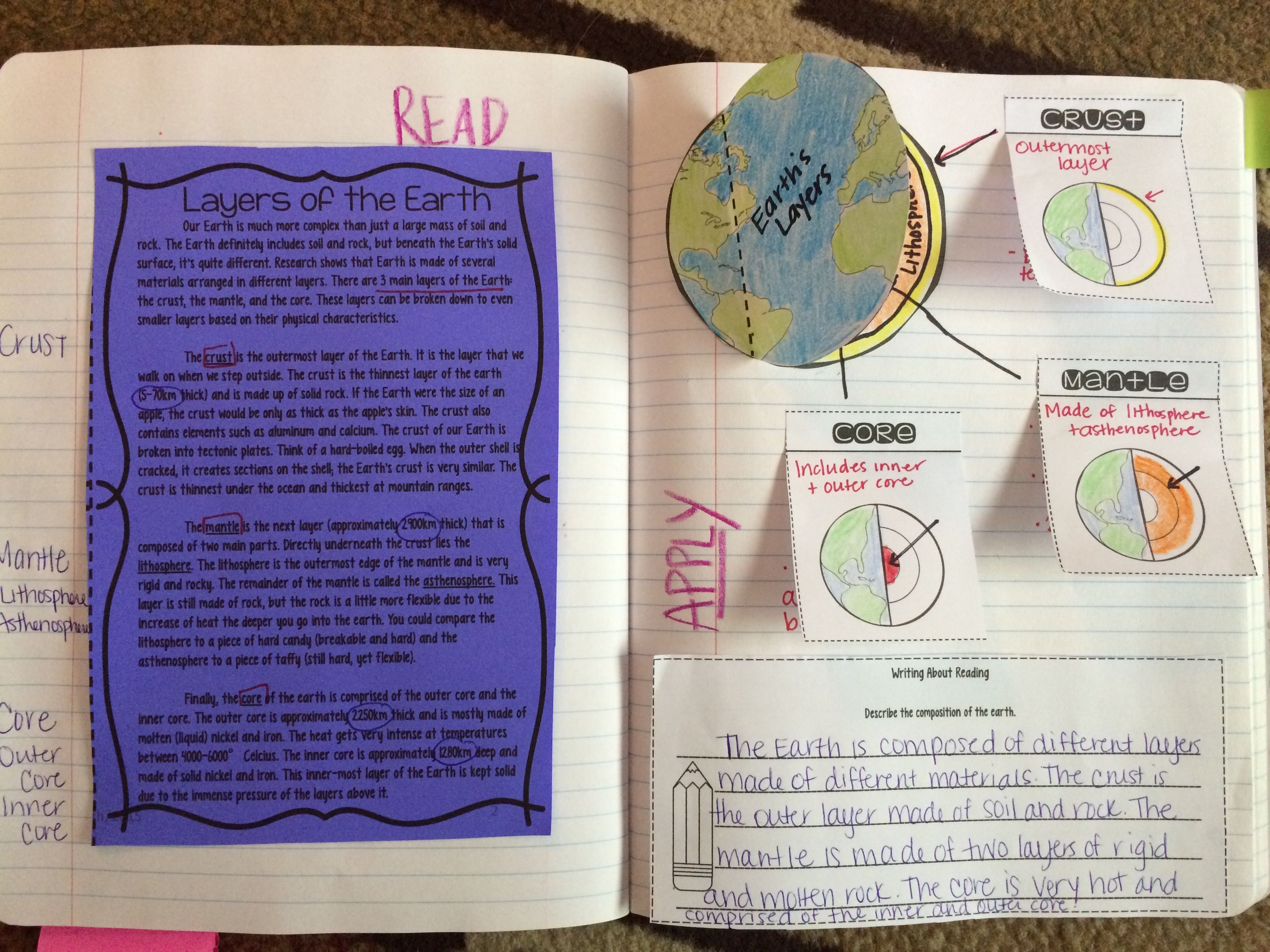 Layers Of The Earth Reading Comprehension Activity Great For Interactive Notebooks Teaching Science Science Reading Passages 6th Grade Science [ 2448 x 3264 Pixel ]