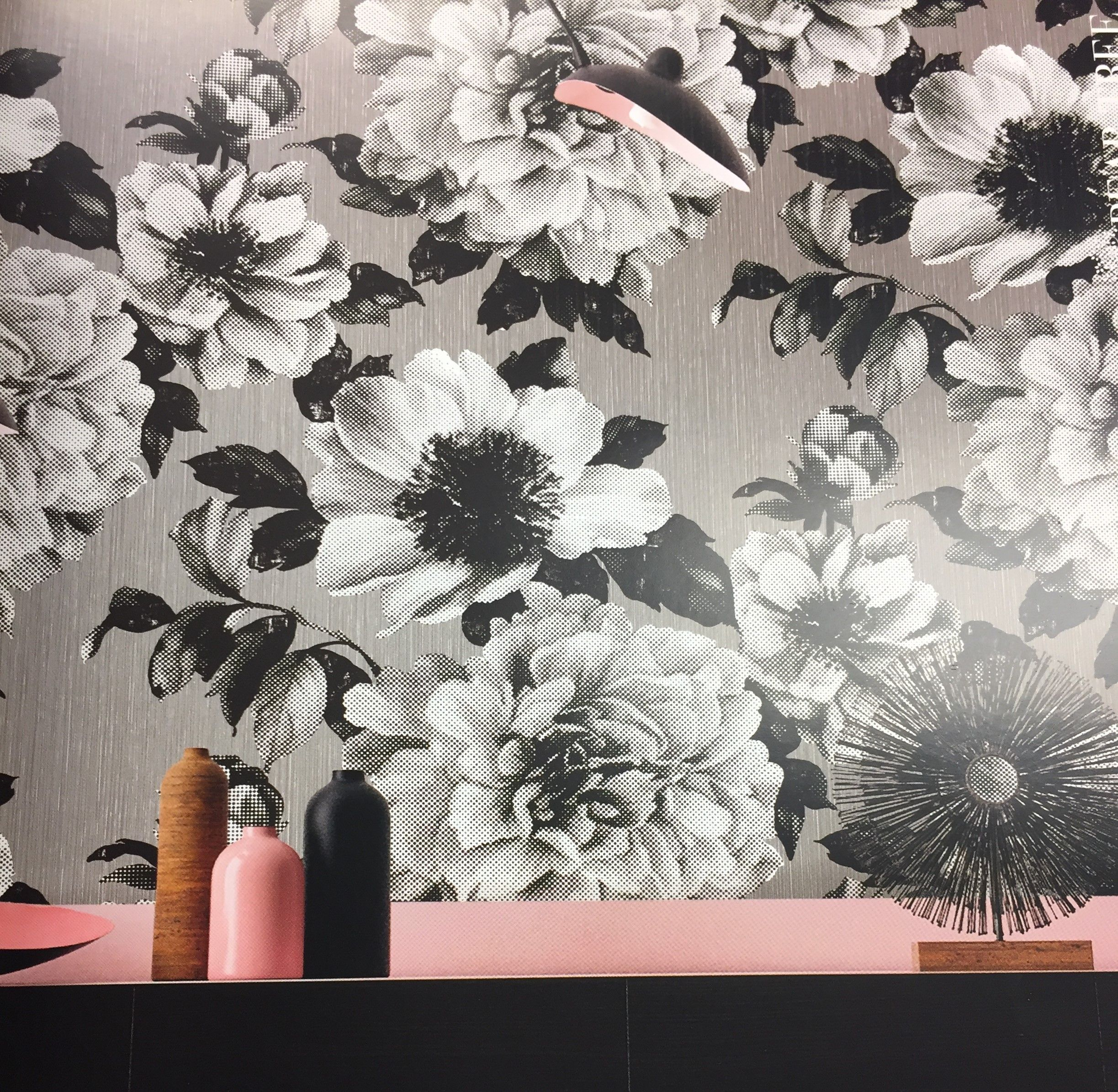Black And White Large Flower Wallpaper Seabrook When You Shop A