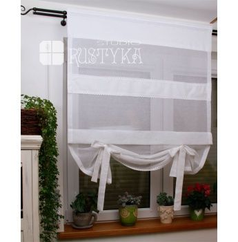 Firany Rolety Shabby Biala Decor Roman Shade Curtain Home Decor