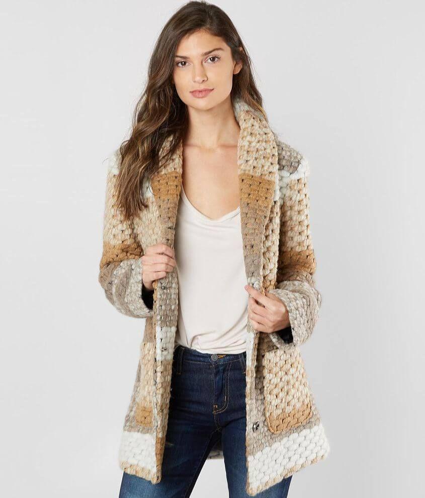 Bke Wool Blend Coat Women S Coats Jackets In Cream Khaki Multi Buckle Coats For Women Wool Blend Coat Women [ 991 x 845 Pixel ]